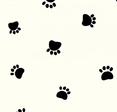 Fat Quarter - Paw Prints - Spaced Paws on Cream