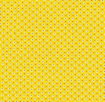 Fat Quarter - Penny's Pets - 1930's Reproduction Prints - Daisy Dot - Yellow