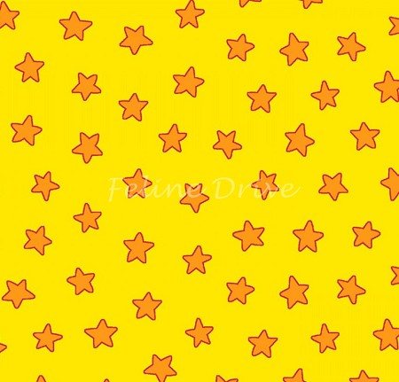 End of Bolt Piece - Flannel - Pete the Cat - Yellow Stars - 16""