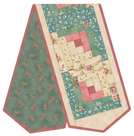 Table Runner Kit - Welcome Home Log Cabin Runner - Pre-Cut POD