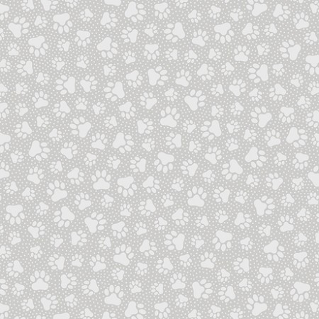 Quilting Illusions - Paw Prints - Gray