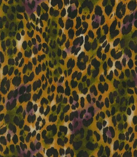 Fat Quarter - Return to Africa - Cheetah Spots - Yellow