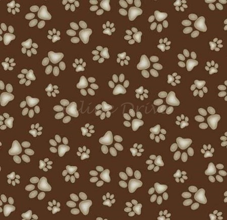 Sand Scribbles - Paw Prints - Brown