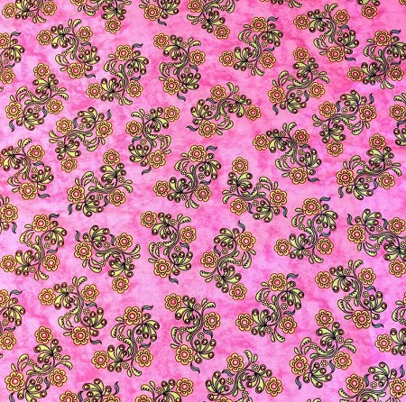 Sew Catty - Floral - Pink