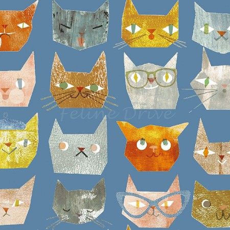 Smarty Cats - Cat Faces - Blue
