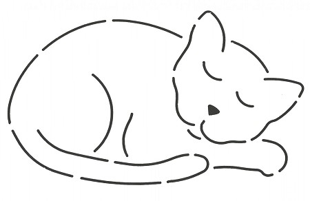 "Quilting Stencil - Catnapper - Large (7"" x 4"")"
