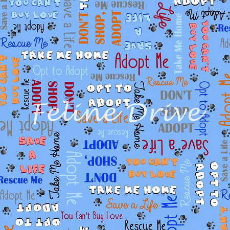 End of Bolt Piece - Take Me Home - Adoption Words - Blue - 23""