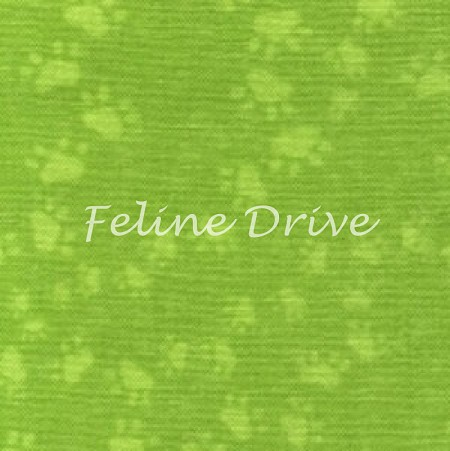 Fat Quarter - The Cat's Meow (South Sea Imports) - Paws - Lime
