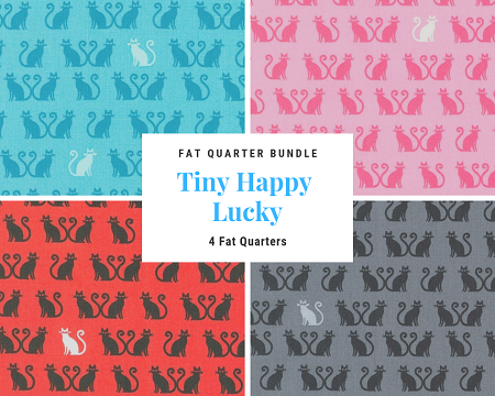 Fat Quarter Bundle - Tiny Happy Lucky - 4 FQs