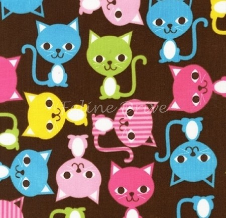 Fat Quarter - Urban Zoologie - Cats - Spring 1