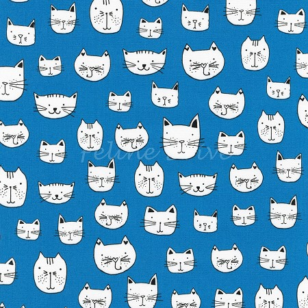 Whiskers & Tails - Kitty Heads - Blue