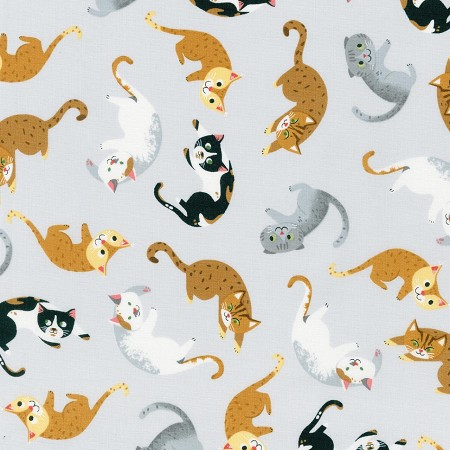 Whiskers & Tails - Cat Toss - Grey