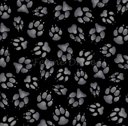 Wild Run - Paw Prints - Black